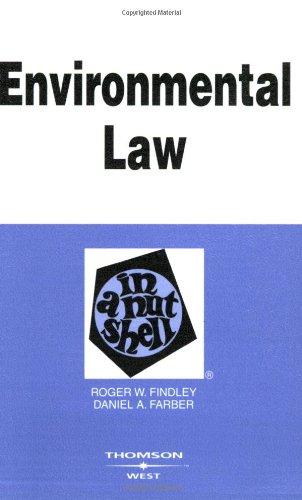 Environmental Law in a Nutshell (Nutshell Series)