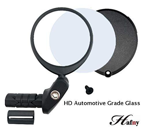 Hafny 2019 Replaceable Bar End Bike Mirror (Automotive Grade Glass Lens) (Best Recumbent Road Bike 2019)