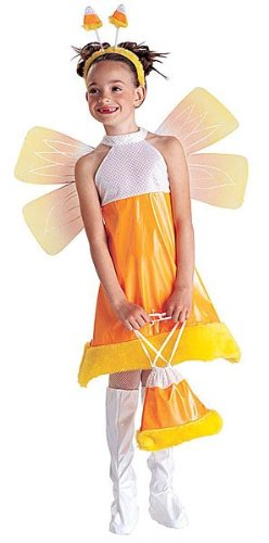 Candy Corn Princess Costume - Girl's Size 8