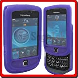 Eagle Cell SCBB9800S05 Barely There Slim and Soft Skin Case for BlackBerry Torch 9800 – Retail Packaging – Purple, Best Gadgets