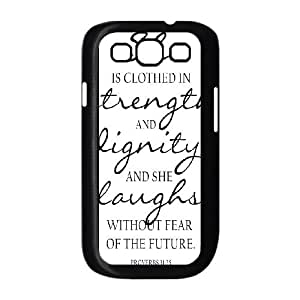 Samsung Galaxy S3 9300 Cell Phone Case Black Strength And Dignity V8398342