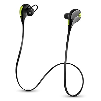 Photive EB-10 Lightweight Wireless Bluetooth 4.0 Sports Headphones. Premium Sweat-proof Bluetooth Earbuds with built in Microphone and 7 Hour Battery.