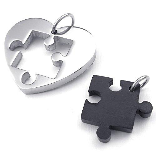 KONOV Couples Stainless Pendant Necklace