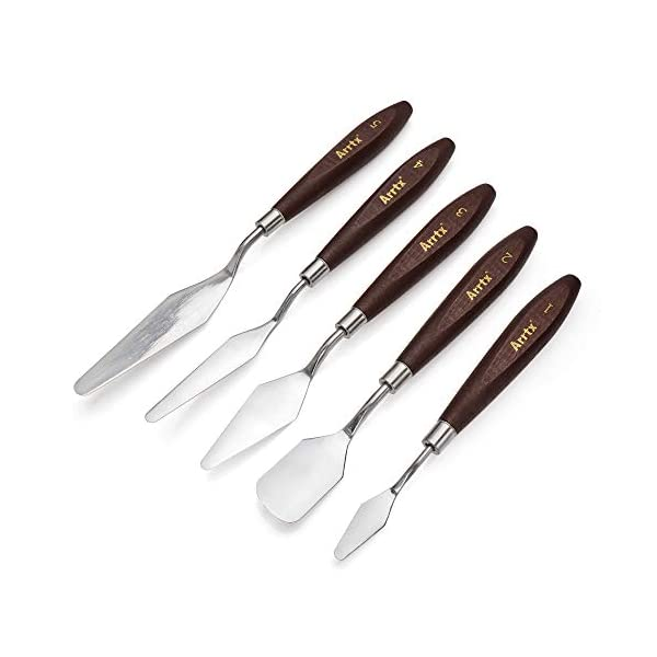 Arrtx-5-Pieces-Painting-Knives-Stainless-Steel-Spatula-Palette-Knife-Oil-Painting-Accessories-Color-Mixing-Set-for-Oil-Canvas-Acrylic-Painting-Arrtx