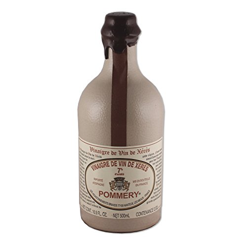 Pommery Aged Sherry Wine Vinegar in a Sandstone Bottle - 16.9oz