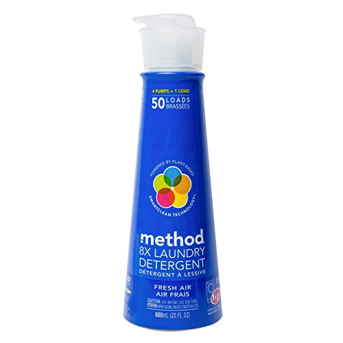 Method  8X Laundry Detergent, Fresh Air,  20 Ounce, 50 Loads