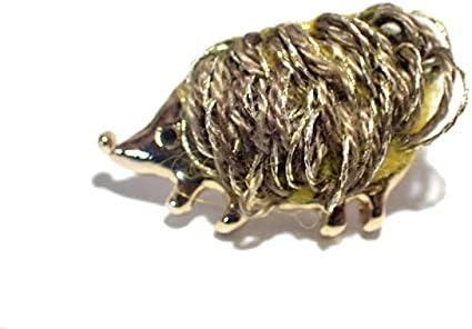 ブローチ Luccica 『 わしゃわしゃハリネズミ ピン 』 アクセサリー ジュエリー カワイイ アニマル 動物 メルヘン 個性的 はりねずみ 針鼠 奇抜 プレゼント 面白い