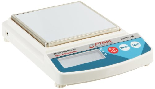 (Optima Scales OPK-S2500 Compact Digital Precision Scale Balance, 2500g x 1g, Stainless Steel)