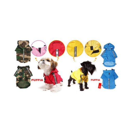 Puppia Base Jumper Rain Coat - 2XL - Camo (Base Jumper Raincoat Camo)