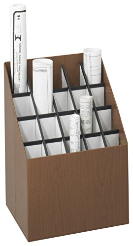 Safco Products 3081 Vertical Roll File, 20 Compartment, Walnut