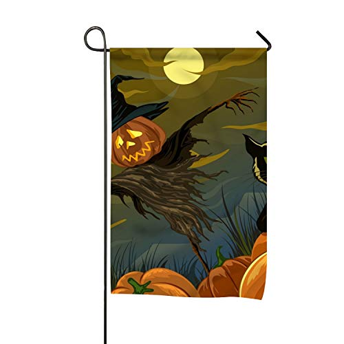 BaiGrid Scary Halloween Garden Flag Printed Double Side Home Flag Weather Resistant Durable 16 x 30 inch for $<!--$9.92-->