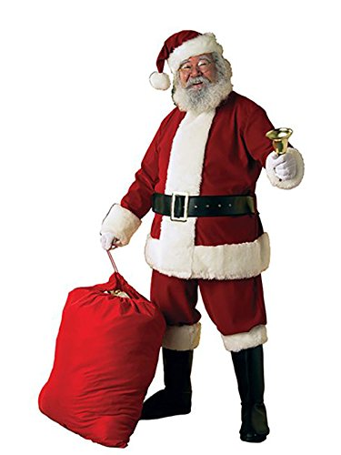 Rubie's Adult Deluxe Ultra Velvet Santa Suit With Gloves, XXX-Large ()