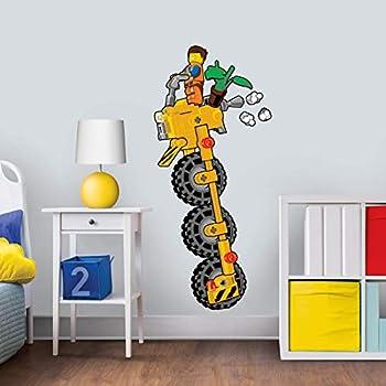Lego Movie Wall Rip Emmet Printed Vinyl Sticker Decal Childrens Bedroom Boys