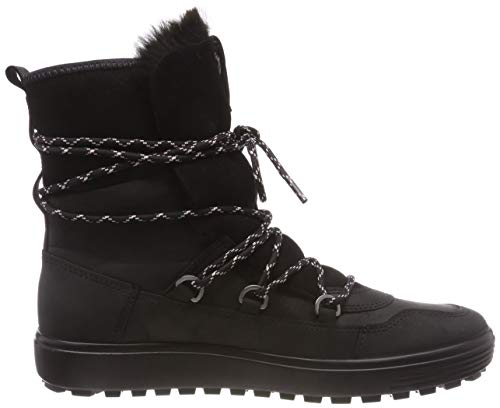 Womens Mid 51052 Tred Schwarz High Women's 7 ECCO Black Boots Soft axdIwqAFA