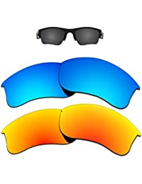 d5f61cab83 Replacement Lenses Different Colors for Oakley Flak Jacket XLJ Sunglass  Polarized Pack of 2