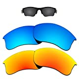 Kygear Replacement Lenses Different Colors for Oakley Flak Jacket XLJ Sunglass Polarized Pack of 2