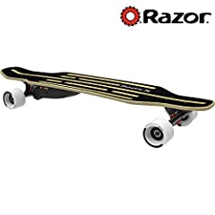 Give your board a boost with the electric, lithium-ion-powered, longboard skateboard made to zoom! The RazorX Longboard is electrifying the longboard scene, amping up the carve-and-cruise action with an innovative, 125-watt, geared, rear-whee...