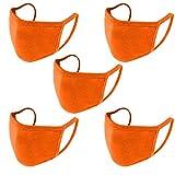 Mallocat 5PC Cotton Face_Masks for Kids Solid Color
