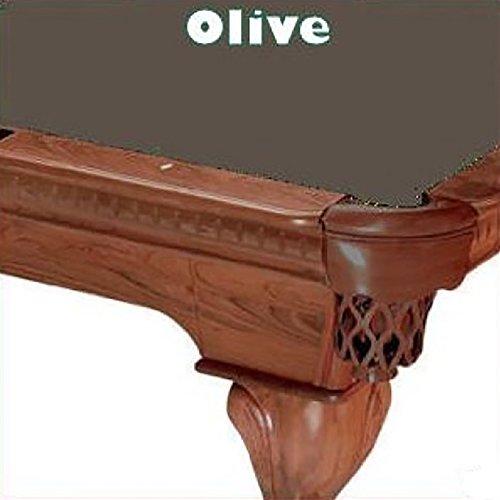 8' Oversize Olive ProLine Classic 303 Teflon Billiard Pool Table Cloth ()