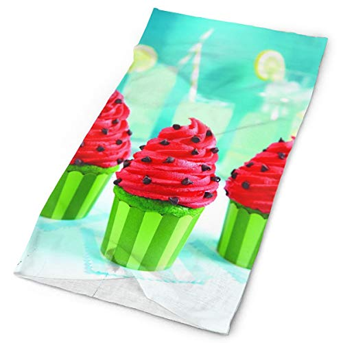 Watermelon Cupcakes Original Headband with Multi-Function Sports and Leisure Headwear UV Protection Sports Neck, Sweat-Absorbent Microfiber Running, Yoga, Hiking ()
