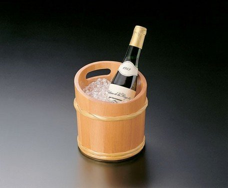 Yamako Japanese Style Wooden Sake Wine Cooler (L) 12332 Made in Japan