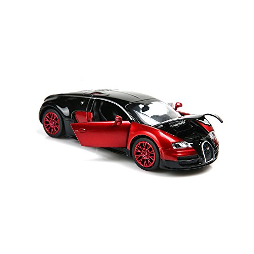 ZHFUYS 1:32 Bugatti Veyron diecast car ,Alloy Model Cars Toy Cars for 2 to 7 Years Old (red) -