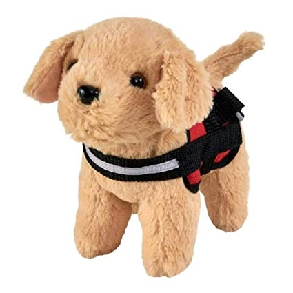 myLife Brand Products My Life As Service Dog, Tan with Red & Black Harness,  Designed for 18