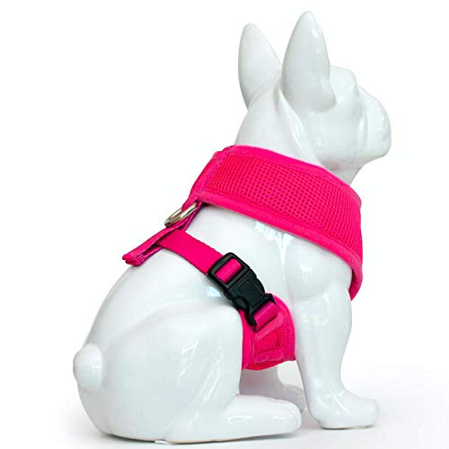 EcoBark Dog Harness Soft Gentle No Pull No Choke Dog Harnesses Double Padded Halter Ultra Cushion Walking Breathable Mesh Dog Vest for Puppies XS Small Medium Large XL
