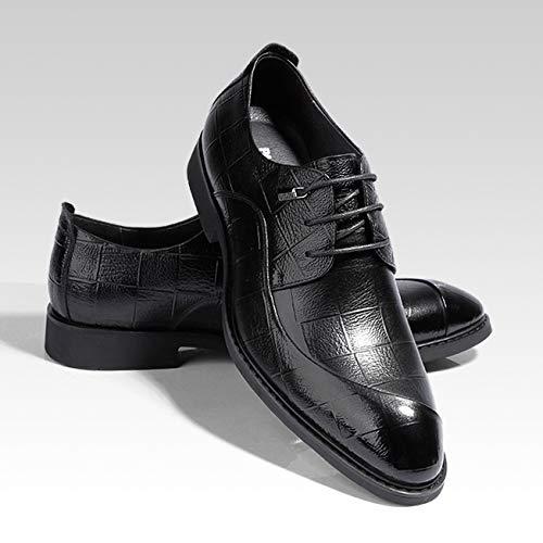 Banquete Cuero Ropa Zapatos Black Bodas Noche Derby Negocios Vestir uwPkXTZOi