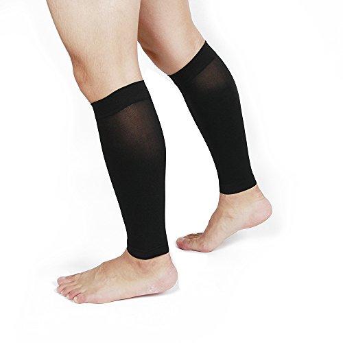 Acacia Calf Sleeve For Shin Splints   Calf Pain Relief  Black  2Xl