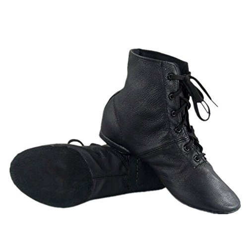Cheapdancing Men's Practice Dancing Shoes Soft Leather Flat Jazz Boots (10.5 D US) -