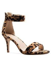 OLIVIA K Women's Heel Open Toe High Heel Women's Ankle Strap Sandal B073R14BM7 Parent 7ebe56