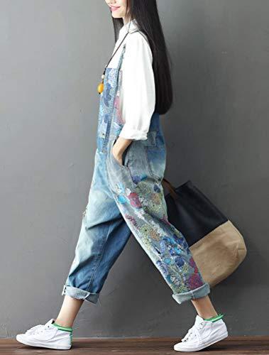 11 Donna Donna fiori A Vogstyle Stile Salopette Pantaloni Blu Jeans f6Fwvx8Cq