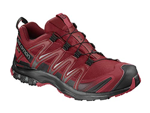 Cherry Red Shoes - Salomon XA Pro 3D GTX Trail Running Shoe - Men's Red Dahlia/Black/Barbados Cherry, US 13.0/UK 12.5