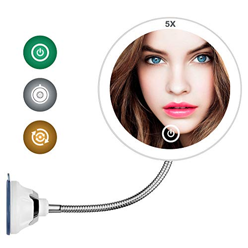 5X Magnifying Mirror with Light LED Lighted Makeup Mirror Vanity Mirror with -