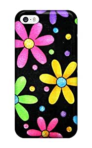 New Style Case Cover ZTjPrJd3754tiKOa Funky Simple Flowers Compatible With Iphone 5/5s Protection Case