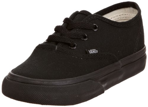 Vans Authentic, Unisex-Childs Low-Top Entrenadores Negro (Black/Black BKA)