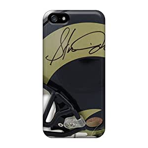 Shock Absorption Hard Phone Case For Iphone 5/5s With Allow Personal Design Colorful St. Louis Rams Pictures KerryParsons