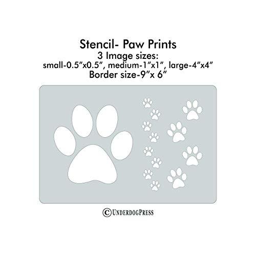 XL Stencil - Paw Prints]()