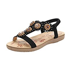 Sandals for Women ❤️ Sameno Comfy Sandals Beach Shoes Flip Flops Slippers 2019 Summer Collection  ლ(╹◡╹ლ) Welcome!       👠 Features:       Best for ladies suffering from bunions. There is no need to restrain your feet any longer.      ...