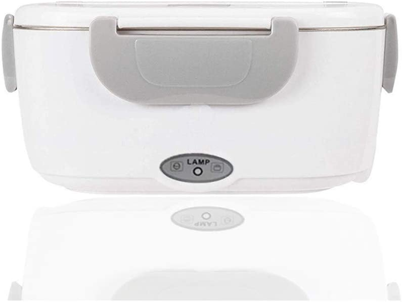 Elektrische Thermo-Bento-Box Abnehmbarer Edelstahl-Lebensmittelbeh/älter-12V//220V f/ür Auto 1,05L, Grau Zuhause und Arbeit 2 in 1 Elektrische Heizung Lunchbox Lebensmittel-Heizung mit L/öffel
