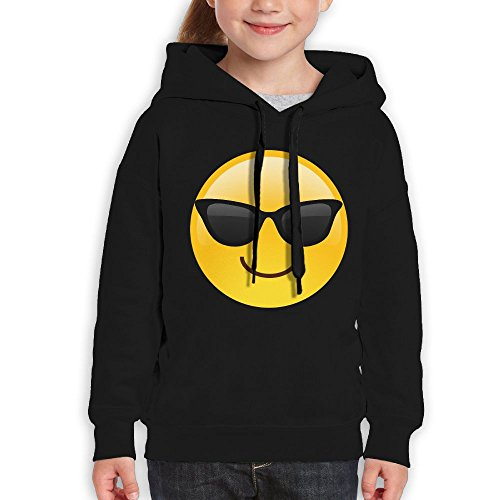Rongyingst Women Hooded Sweatshirt Sunglasses Emoji Pullover Cotton/Polyester Hoodies Long Sleeve 7.8oz Small - Minecraft With Skins Sunglasses