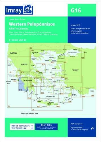 Imray Chart G16: Western Peloponnisos (G Charts) (Global G16)