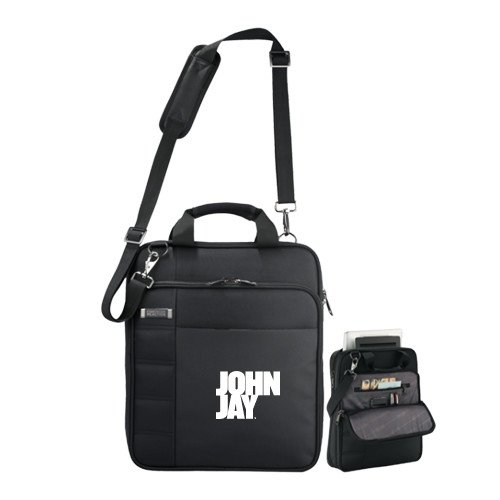 John Jay College Kenneth Cole Black Vertical Checkpoint Friendly Messenger 'Official Logo' by CollegeFanGear