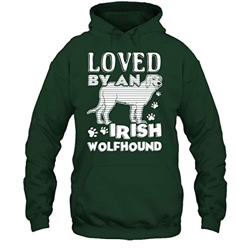 Seewhite Irish Wolfhound T Shirt - Loved by Irish Wolfhound Cool T Shirts Design Hoodie (XXXL,Forest)