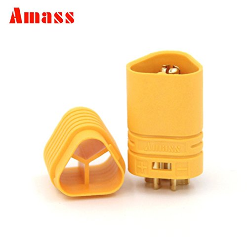 - Amass MT60 10Pairs 3.5mm 3-pole Bullet Connectors Plug Set Motor Plug Connector for RC ESC to Motor with housing For RC Lipo Battery
