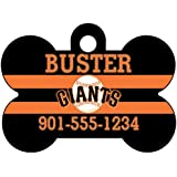 MLB Team Dog Tag Pet Id Tag Personalized w/ Name & Number (San Francisco Giants)