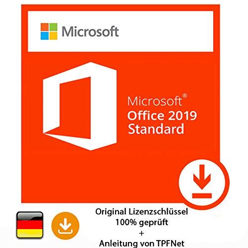Microsoft® Office 2019 Standard 32 bit & 64 bit Vollversion Original  Lizenzschlüssel per Post und E-Mail + Anleitung von TPFNet® - Versand  maximal