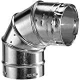 Dura Vent 6GVL90 6-Inch Adjustable 90 Degree Type B Gas Vent Elbow