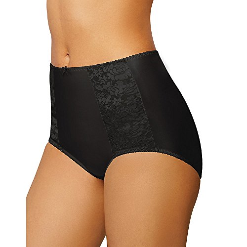 Double Gusset Brief - Bali Women's Essentials Double Support Brief, Black, 9
